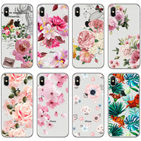 For iPhone X cases beautiful Floral patternTPU painting Cell...