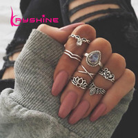 Kayshine 7pcs set Bohemia Antique Gold- Color Antique Silver ...