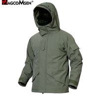 MAGCOMSEN мужчины зимняя куртка теплая водонепроницаемый ветрозащитный тактическая куртка ветровки боевой камуфляж армия пальто одежда PLY-57