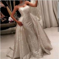 Sequin Lace Sweetheart Neck Prom Dresses Mermaid Zipper Back...