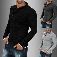 2018 Fashion Mens Shirt Casual Long Sleeve Shirt Autumn Mens...