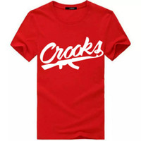 Neue Mode Crooks and Castles T Shirts Männer Kurzarm Baumwolle Mann T-Shirt CROOKS Brief Männlichen T-shirt Tops T-shirt S-3XL
