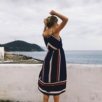 Women Summer Long Dress Elegant 2018 Casual Boho Sexy Stripe...