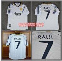 TOP 98 99 00 Real Madrid Retro Futbol Forması RAUL Futbol Gömlek 1998 1999  2000 Redondo 897a159f3