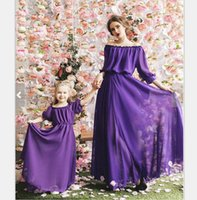 Материнство Женщины мать дочь Макси платье семьи Matching Наряды моды мамочку и Me Длинное платье Семья установлены