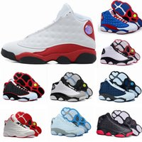 quality 13 XIII 13s Mans Women Basketball Shoes Bred Navy Ga...