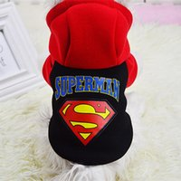 Superman Pet Warm Coat Cat Dog Costumes Hoodies Puppy Winter...