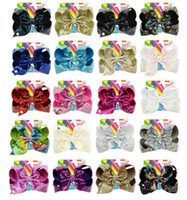 2018 new style JOJO Bow paillette bowknot 8 Inchs 20 Colors ...