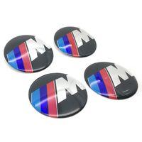 4 قطع السيارات الألومنيوم m الأداء محور العجلة مركز قبعات شعار التصميم m شعار عجلة ملصقا ل bmw 1 3 5 7 سلسلة x1 x5 x6 e39