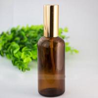 Leere Reise Tragbarer ätherische Öl Glas Mehrwegflaschen 100ml Glas Sprühflaschen mit Gold und Schwarz Spray Cap