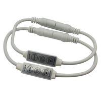 DC12V-24V Conector de CC con atenuador mini LED de 3 llaves para 3528 5050 Módulos de tira rígida LED de un solo color Iluminación de bombilla
