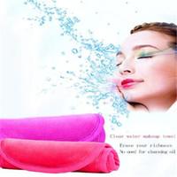 메이크업 페이스 타올 마이크로 화이버 화장 솜 화장수 DHL 무료 배송 물로 씻어 낼 깨끗한 마스카라 화장품