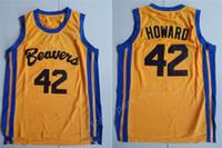 High / Top Männer 42 Scott Howard Jersey Moive Basketball Beacon Beavers Trikots Gelb American Filmversion Zustand Günstige Stitched Qualität
