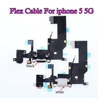 connecteur de station d'accueil harger USB pour iphone 5S / 5SE port de charge avec casque micro antenne câble flexible pièce de réparation