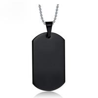 Colar de soldado negro militar para homens namecard pingente colar 316L aço inoxidável cão tag colar casual moda presente