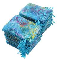 100шт/лот Бронзировать patternsr 7x9cm 9х12 см 10x15 см 13X118CM органза сумка ювелирные изделия подарок сумки Сумки для свадебной мешки drawstring