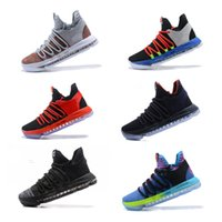 New 2018 KD 10 kids Basketball shoes Childrens Youth KD 10 X...
