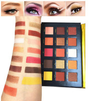 الجمال المزجج المحمولة 15 ألوان ظلال العيون لوحة ضغط تمييز بريق مسحوق عينيه pallete مستحضرات التجميل الغروب