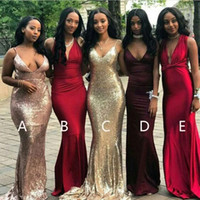 Rose Gold Sequins Bridesmaid Dresses 2018 Mix and Match Burg...