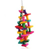 light snowfall 38 x 10cm Colorful Parrot Macaw Cage Chew Toy...