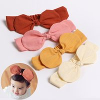 INS European and American baby new Bow headband candy color ...