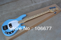 Ücretsiz Kargo Yüksek Kalite Ernie Topu Musicman Müzik Man Sting Ray 4 Dizeleri Mavi Aktif Pikap Elektrik Bas Gitar Stokta