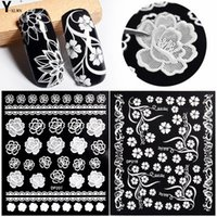 Y-XLWN New nail sticker Adesivo 3D nail applique Bianco tridimensionale
