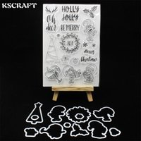 wholesale Merry Christmas Transparent Clear Silicone Stamp C...