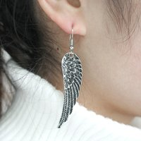 Vintage Angel Wings Earrings For Women Punk Exaggerated Earr...