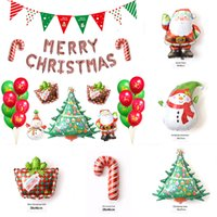 Christmas Flags Santa Claus Balloon Set Floral Bunting Banne...