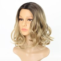 Fashion&Hot Short Wig Natural Wavy Wigs for Women Ombre Blon...