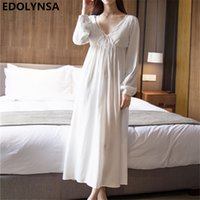 Nightgowns Sleepshirts 2018 Sexy Dresses Princes Lace Sleepw...