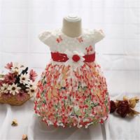 Meninas do bebê Vestido Impresso laço de borboleta Para A Princesa Festa Infantil Vestido de Batismo 1 Anos de Aniversário Roupas de Bebê de Natal