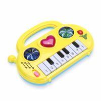 어린이 음악 장난감 어린이 음악 발달 미니 피아노 휴대용 소리 교육 학습 음악 재미 있은 장난감 아기 색상 임의
