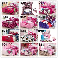 Cartoon Cotton Bedding Sets Cute KT Cat Printed Bedding Supp...