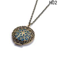 1 Pc Bronze Antique Couleur Aromathérapie Aroma Huile Essentielle Parfum Creux Diffuseur Pendentif Colliers Pour Cadeau