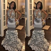 2018 New Modern Black Girls Prom Dresses Mermaid Sexy Backle...