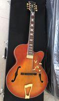 Nuovo arrivo all'ingrosso Cina Cnbald Jazz chitarra elettrica modello L-5 ES Semi Hollow in CS Sunburst 180611