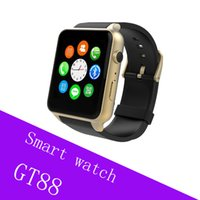 Reloj inteligente SIM Card Bluetooth Sports GT88 con monitor de ritmo cardíaco y reloj inteligente independiente Phone Mate para Android IOS