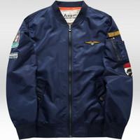 Оптово Grandwish Ma-1 Flight Jacket Bomber Мужчины 6XL Патчи Men Pilot Bomber Jacket Patch Design Bomber Jacket Мужские куртки