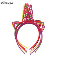 10pcs lot NEW Girls Unicorn Hairbands Lovely Hair Hoop Princ...