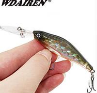 1 قطع الليزر غرق ببطء أسماك الصيد السحر 8.5 سنتيمتر 6.5 جرام المتذبذب الاصطناعي يطير الصيد الصعب الطعم الكارب crankbait الصيد WD-215