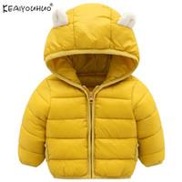 KEAIYOUHUO Куртки для девочек Пальто 2018 Новые зимние пальто для девочек Пуховик Детская куртка Детская одежда Хлопок Верхняя одежда с капюшоном