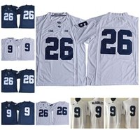 50d3c2884 Penn State Nittany Lions College Jerseys 26 Saquon Barkley 2 Marcus Allen  88 Mike Gesicki 9 Trace McSorley Navy Blue White Stitched