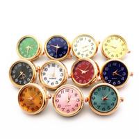 Date Mix 10pcs / lot Montre En Verre Snap Boutons Charmes 18mm / 20mm Boutons De Pince Bijoux Pour DIY Bracelet Remplaçable