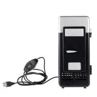Мини-USB холодильник USB холодильник напиток напитки банки охладитель и теплее со светодиодной подсветкой для домашнего офиса