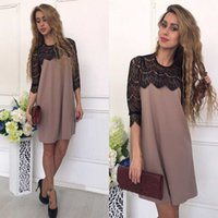 Sexy Sheath Dresses with Lace Crew Neck Womens Sport Clothin...
