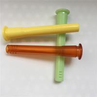 다채로운 아크릴 Downstem 기관총 18mm 남성 14mm 여성 액세서리 흡연 파이프 석유 굴뚝 물 줄기 아래로 유리 버블 러 흡연 물