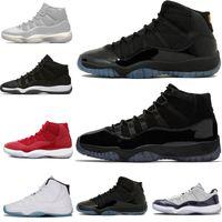 outlet store 5ca8e ef6c2 Venta caliente Prom night 11 11s hombres mujeres zapatos de baloncesto  concord rojo gris negro blanco