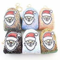 Weihnachtsmann Design Pailletten Geldbörsen Frauen Geld Taschen Mädchen Damen Geldbörsen Kinder Kinder Nette Weihnachten Geldbörse Kartenhalter